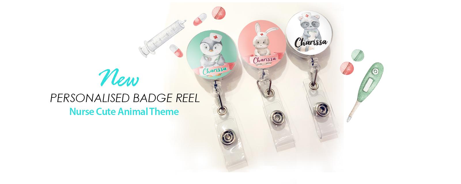Personalise Badge Reel Nurse Theme