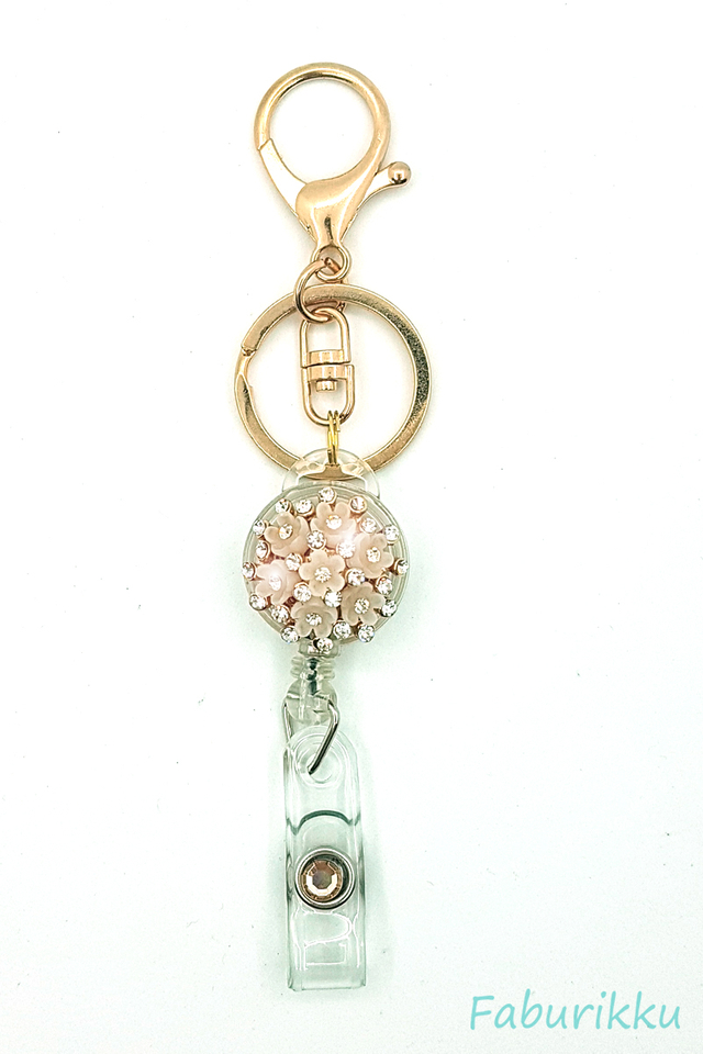 Diamond Bouquet Hook On Badge Reel