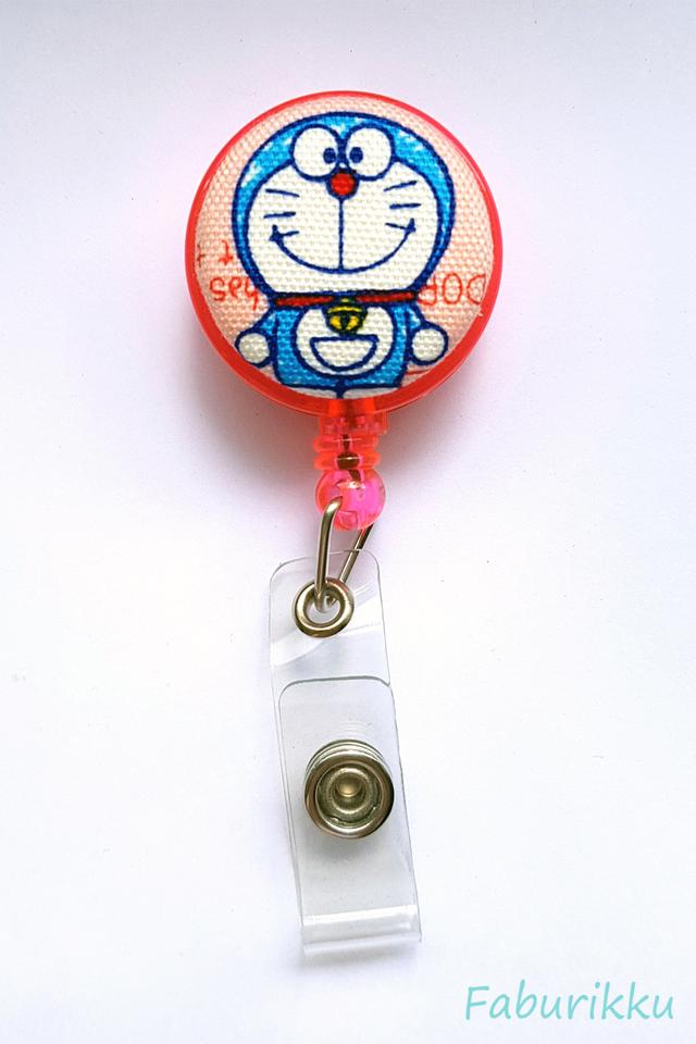 Doraemon Pink Full Clip-On Badge Reel