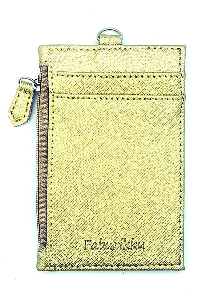 Gold Zip Premium Cardholder Portrait
