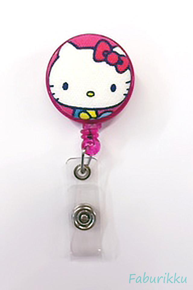 Hello Kitty Magenta Head Clip-On Badge Reel