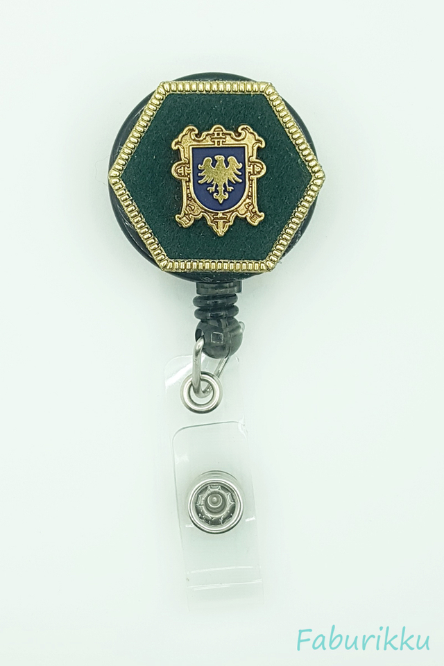 Icon Hexagon Green Clip-On Badge Reel