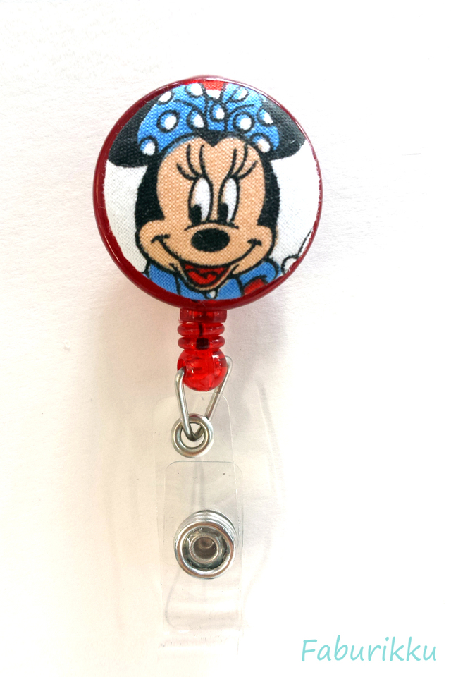 Minnie Red Clip-On Badge Reel