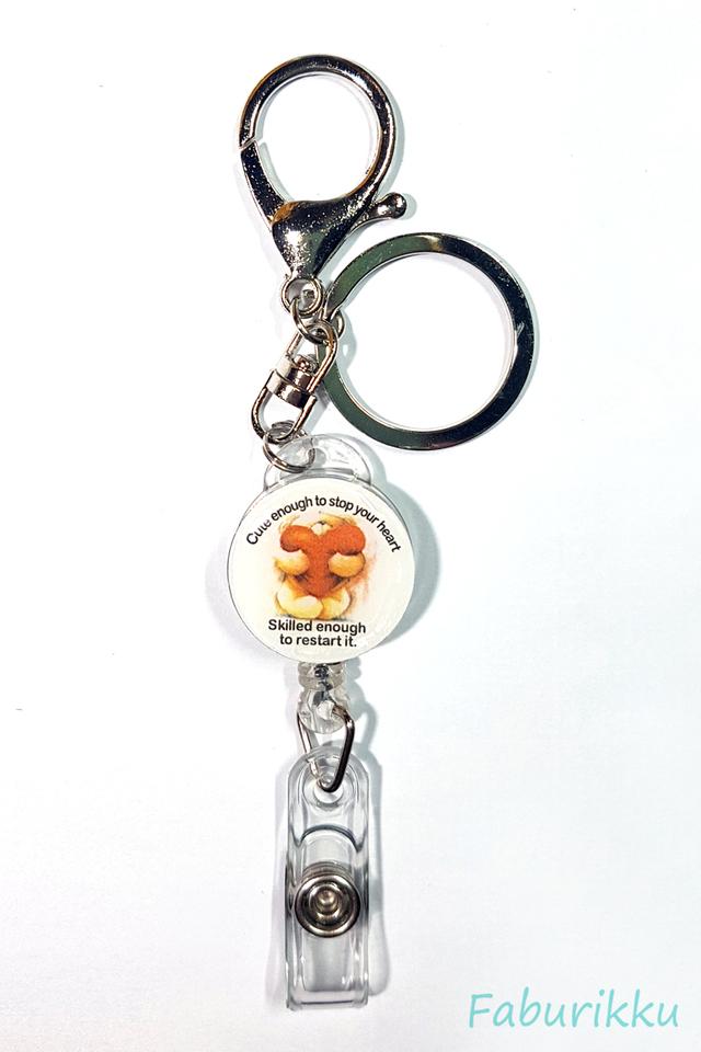 Quotes NurseBear Hook-On Badge Reel