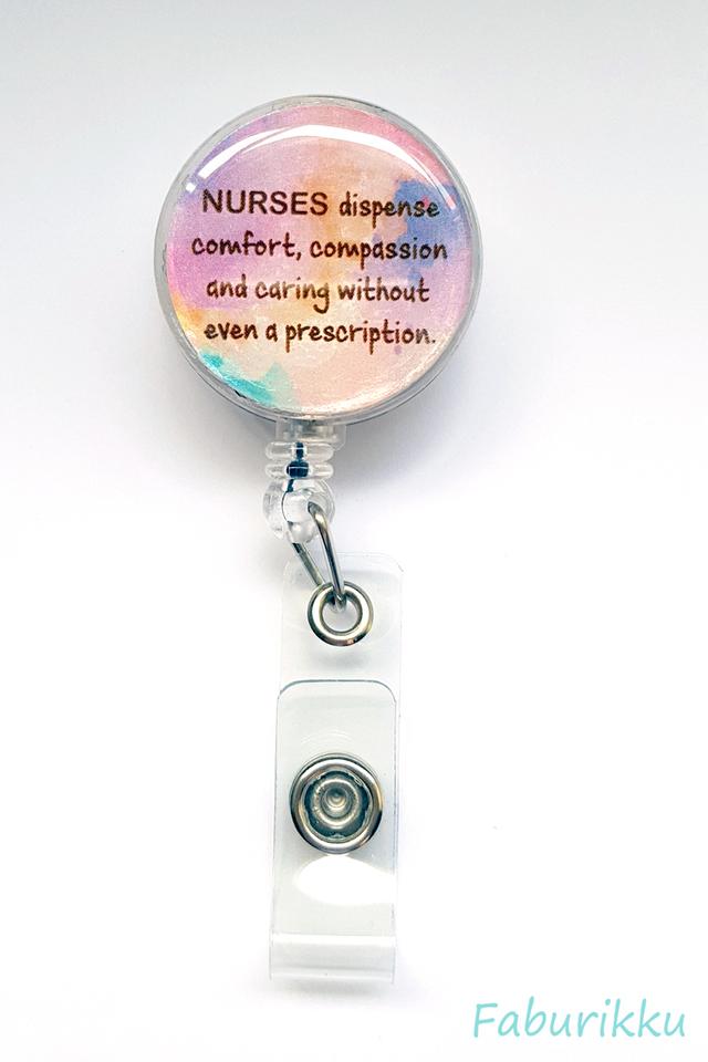 Quotes Nurse Pastel Clip-On Badge Reel