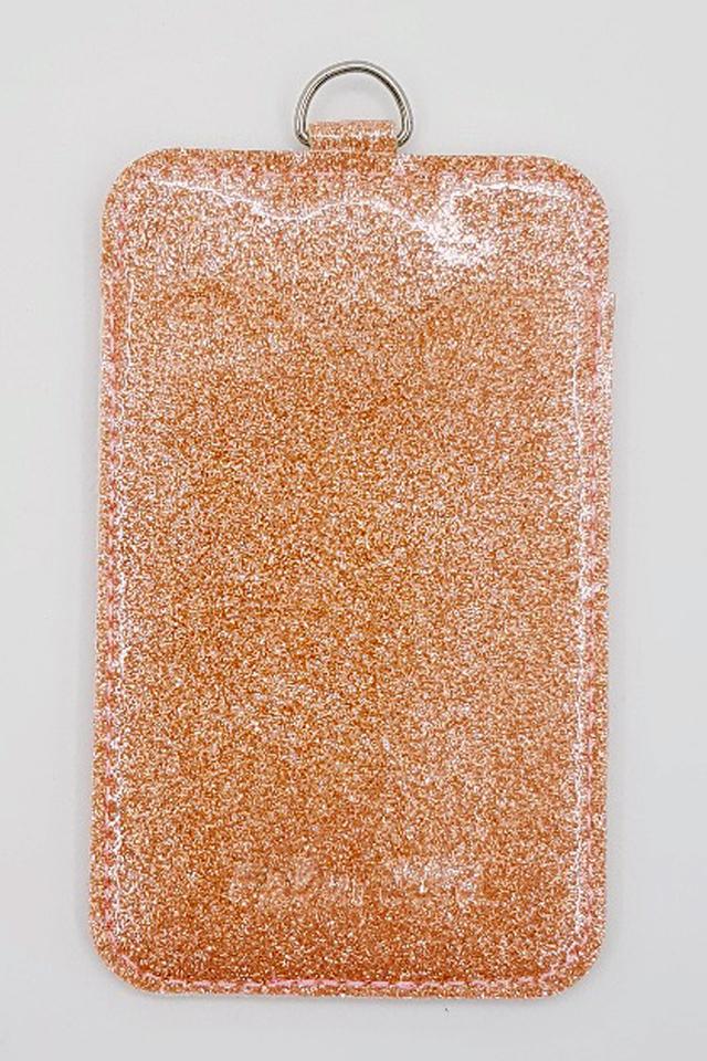Rose Gold Glitter Premium Card Portrait