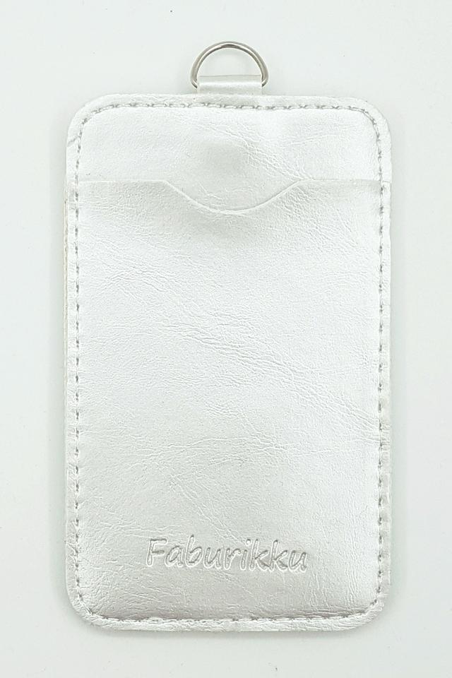 Silver Soft PU Deluxe Card Portrait