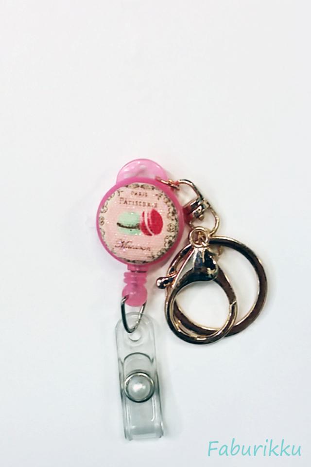 Sweets Macaroon Pink Hook-On Badge Reel