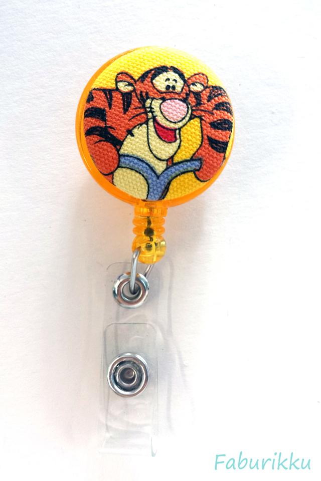 Tigger Yellow Jump Clip-On Badge Reel