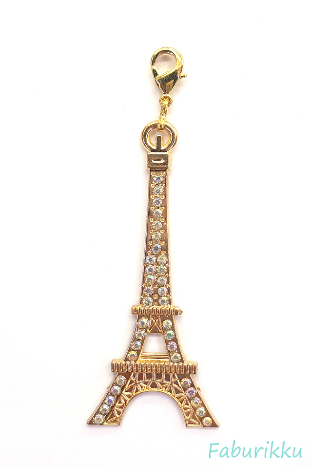 Eiffel Tower Gold Charm
