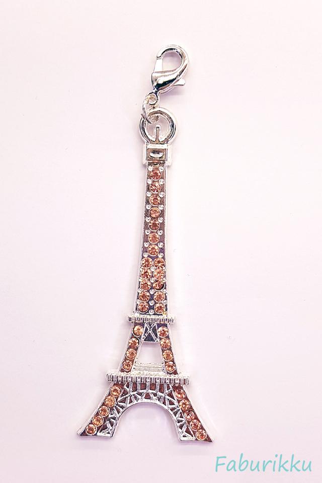 Eiffel Tower SilverPink Charm