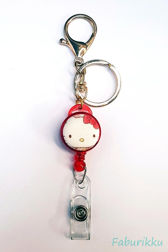 Hello Kitty RedHead Hook-On Badge Reel
