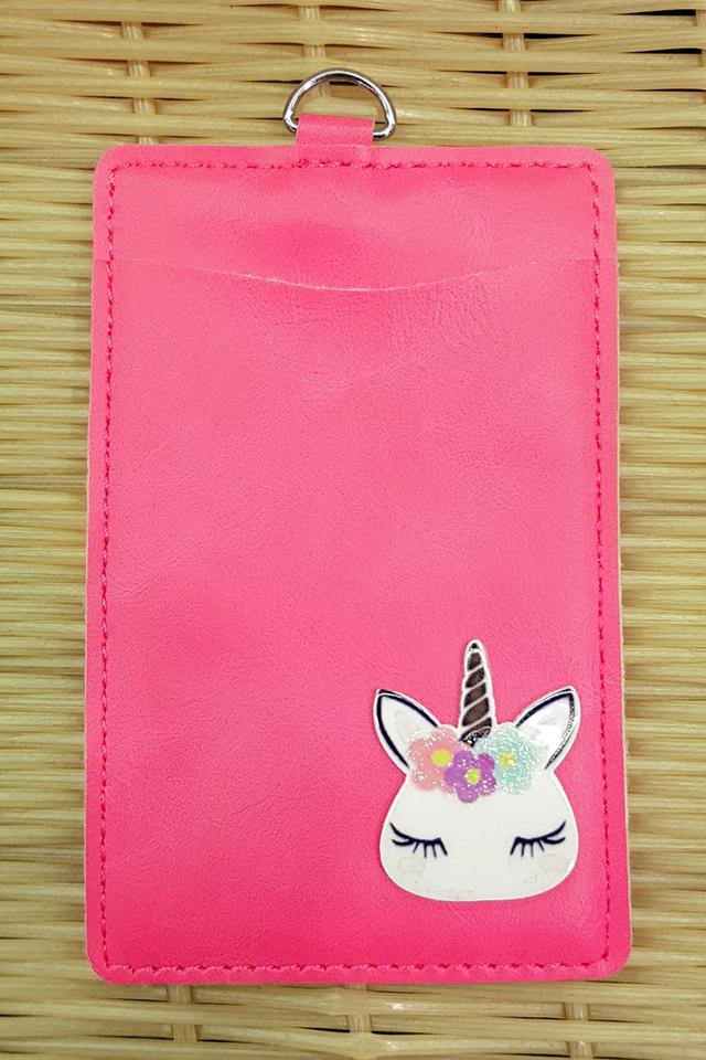 Magenta Unicorn Premium Card Portrait