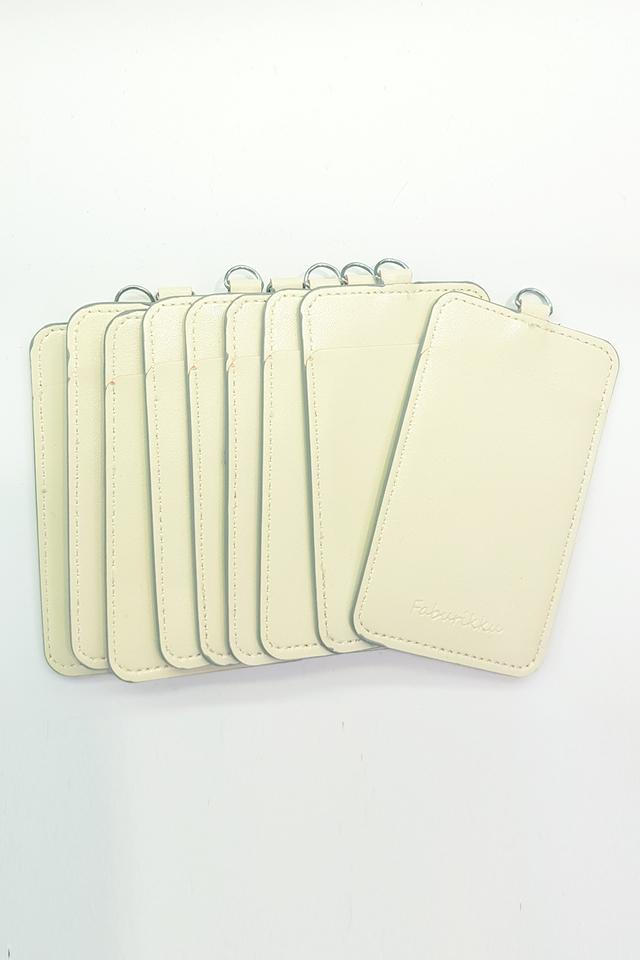 (Bulk Price) 10pcs Cream Slim PU Deluxe Card Portrait