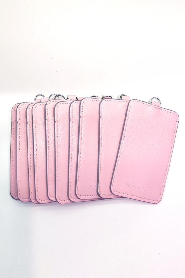 (Bulk Price) 10pcs Light Pink Slim PU Deluxe Card Portrait