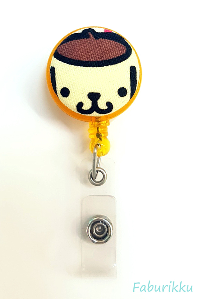 Purin Yellow Clip-On Badge Reel