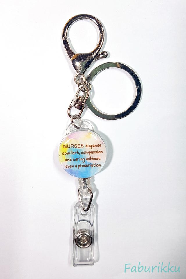 Quotes NursePastel Hook-On Badge Reel