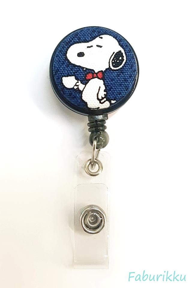 Snoopy BlackTeaCup Clip-On Badge Reel