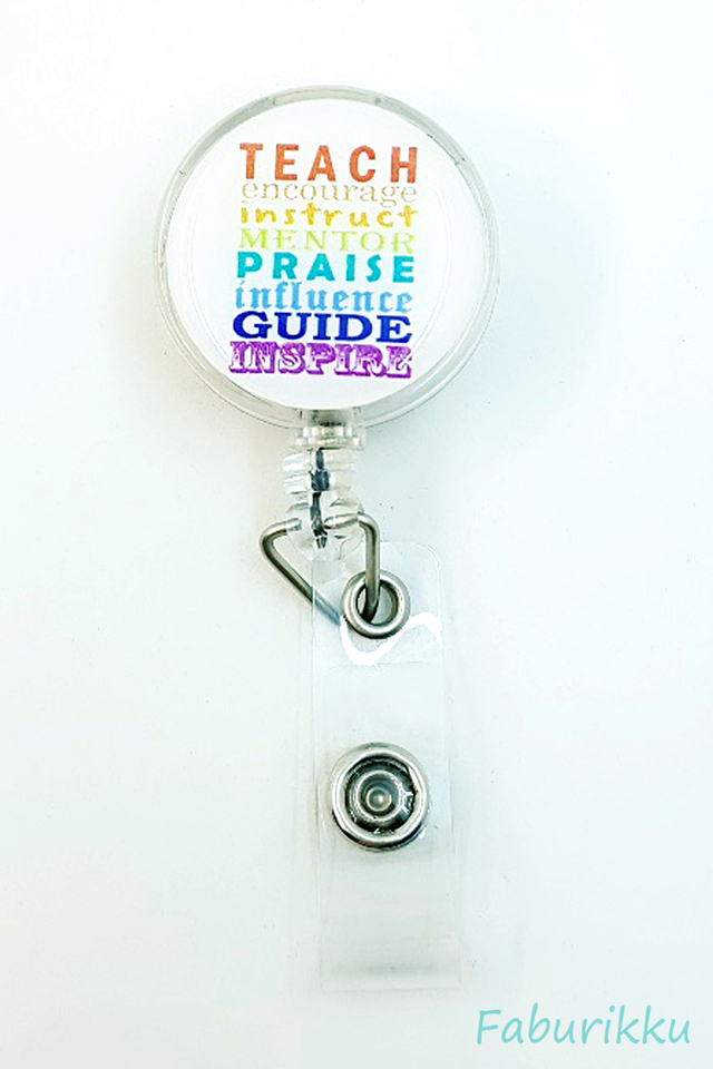 Quotes TeacherInspire Clip-On Badge Reel