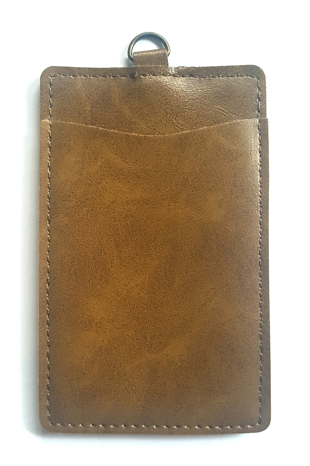 Puffy Deluxe Cardholder Brown