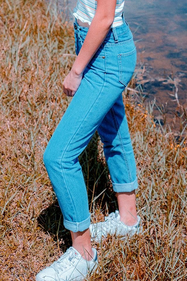 Roll Up  Denim Boyfriend Jeans