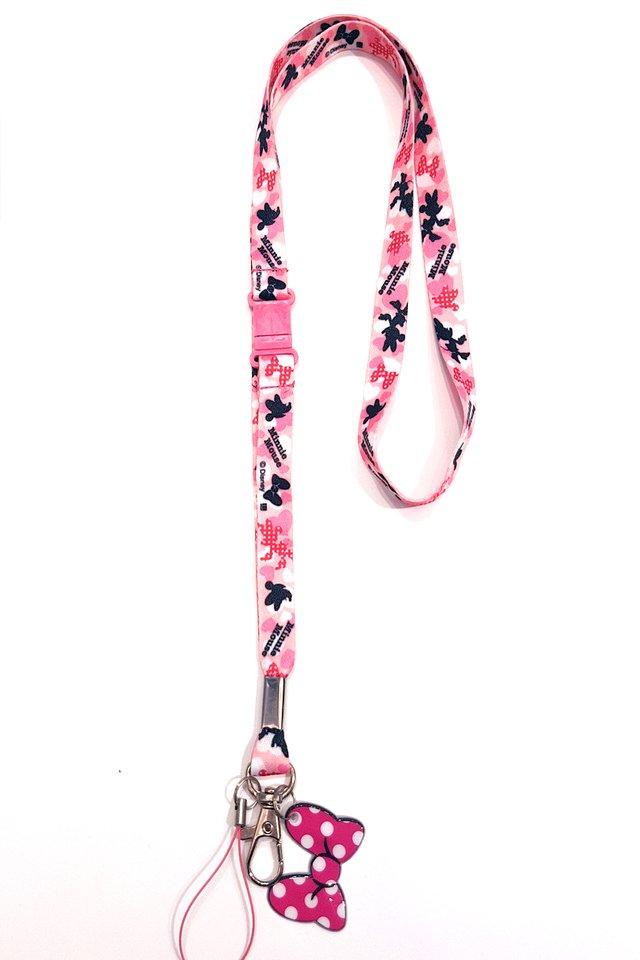 Minnie Pink Soft Nylon Deluxe Lanyard