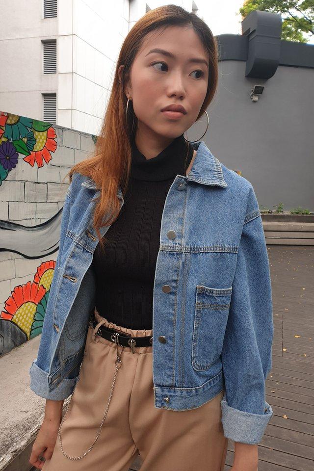 Blue Pocket Denim Jacket