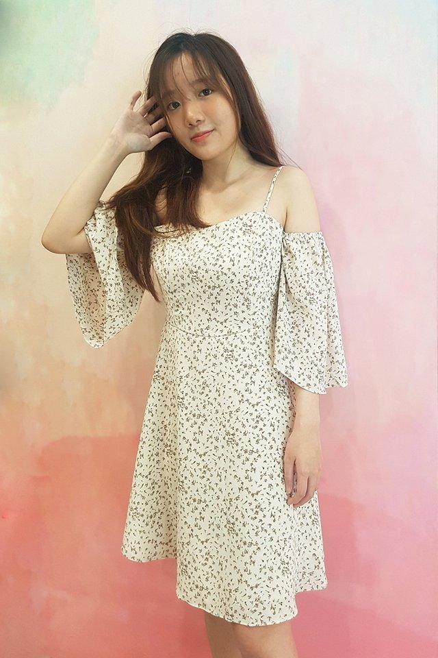 FAQLABEL-Odelle Cold Shoulder Dress (4 Colours)