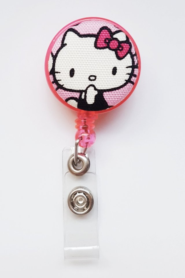 Hello Kitty Facefront Clip-On Badge Reel