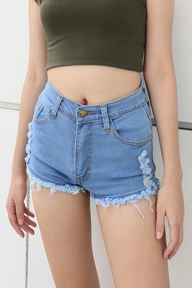 Stretch Rip Denim Shorts (5 Colours)