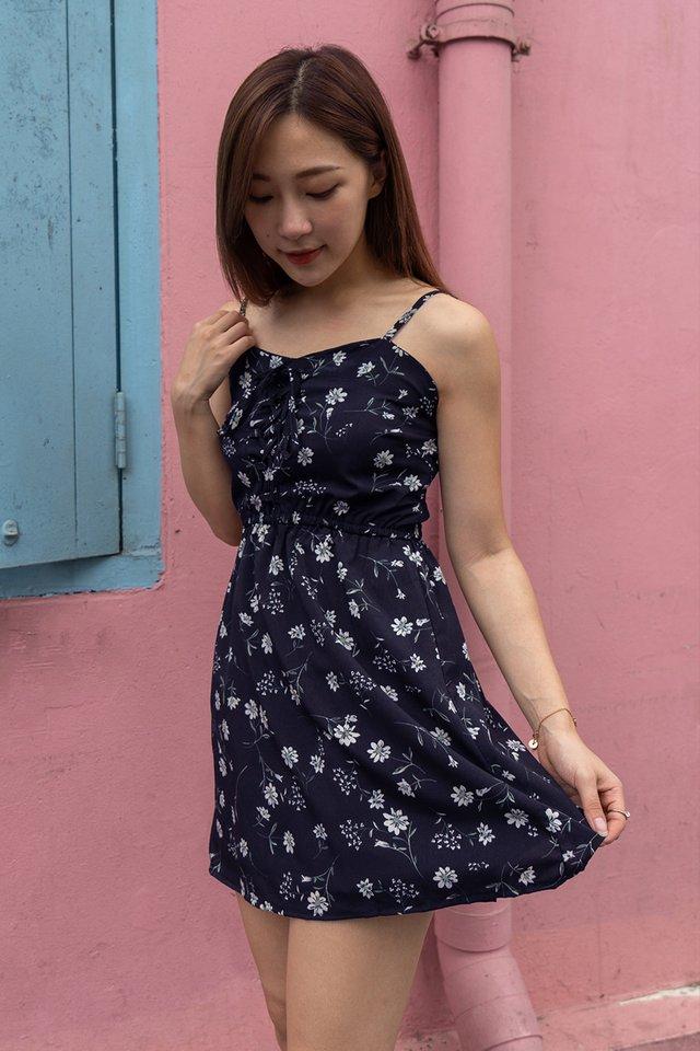 Blossom Lace Up Romper Dress (3 colours)