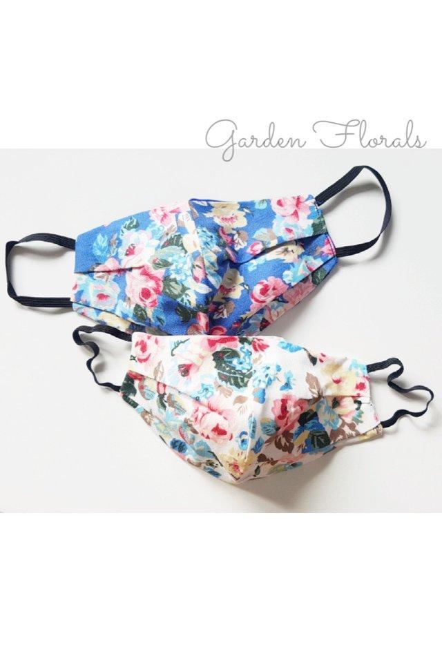 Handmade Reusable 3ply Cloth Mask - Garden Floral Print
