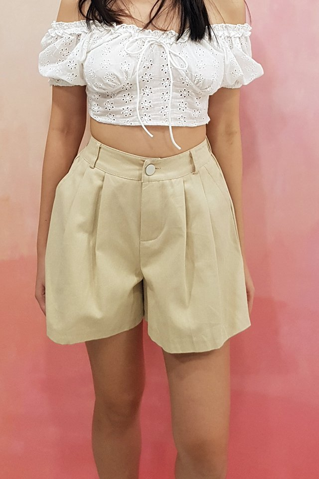 Fanny Button Flare Shorts (3 colours)