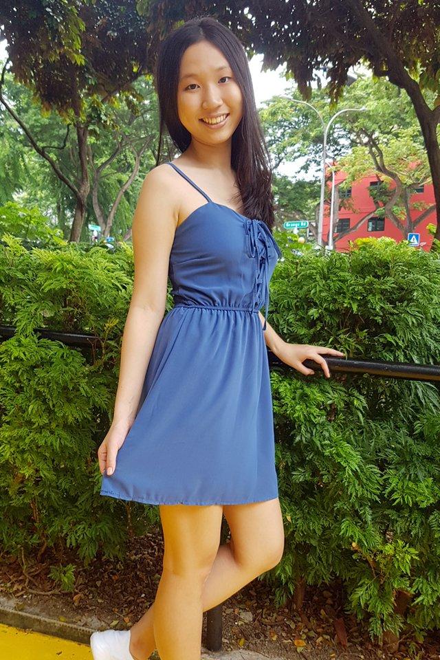 Lace Up Romper Dress (4 colours)