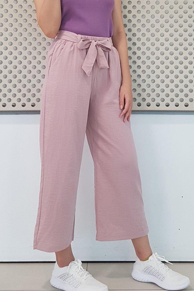 Cotton Linen Ribbon Sash Pants (5 colours)