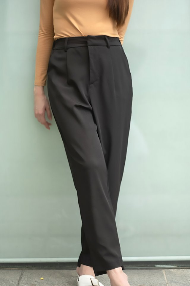 Irregular Hem Tapered Pants (4 colours)